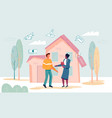handshake and successful real estate transactions vector image