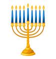 happy hanukkah of menorah vector image