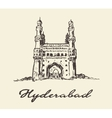Hyderabad India Charminar drawn sketch vector image