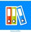Icon of folders vector image