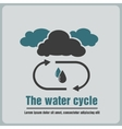icon the water cycle vector image