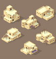iso arab house isolated on sandy vector image vector image