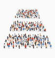 large group people in shape pyramid vector image