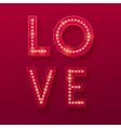 Love Retro light banner Valentines card vector image vector image