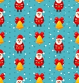 merry christmas seamless pattern with santa vector image