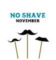 no shave november prostate cancer awareness month vector image