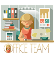 Office Team Accountant vector image