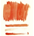 Orange watercolor elements for design vector image vector image