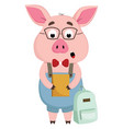 pig with glasses or color vector image vector image