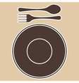 PlateForkSpoon vector image vector image