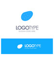 potato food blue solid logo with place for tagline vector image vector image
