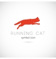 Running Cat Silhouette Symbol Icon or Label vector image