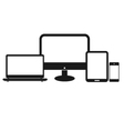 set computer tablet vector image vector image