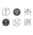 set outline badges or emblems abstract hipster vector image