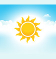 sky sun summer blue day sunshine vector image