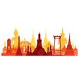 Thailand Landmark Skyline vector image vector image