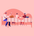 thanksgiving day celebration happy family dad and vector image vector image