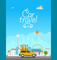 Vacation travelling concept travel with the vector image vector image