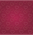 valentines day pink heart pattern background vector image vector image