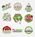 variety italian food set vector image vector image