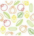 vegetable seamless pattern for use as wallpaper vector image vector image