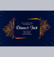 wedding card design with leaves flourish vector image vector image