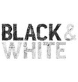 words black and white in black color vector image vector image