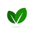 Eco Leaf Logo Green Icon vector image