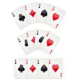 Three aces poker vector image