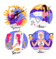 collection of zodiac signs vector image