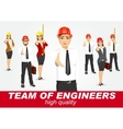 set of happy architects or engineers vector image