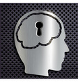 human head with a keyhole vector image