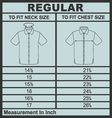 Men shirt regular size vector image