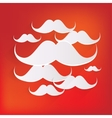 Hipster moustaches icon vector image