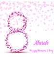 8 march happy womens day greeting card vector image vector image
