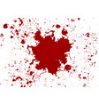 abstract blood splatter red color isolated vector image vector image