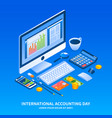 accounting day holiday concept background vector image
