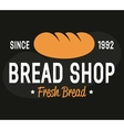 Bakery logo label or badge design elements vector image