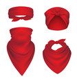 bandanas realistic headbands for bikers sport vector image