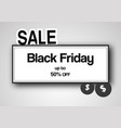 banner template for black friday with text space vector image
