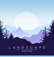 beautiful peaceful mountains landscape at sunset vector image vector image