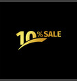 black banner discount purchase 10 percent sale vector image vector image