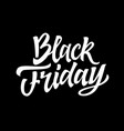 black friday - hand drawn brush lettering vector image