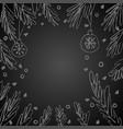 blank speech bubble fir tree branches vector image vector image