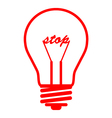 bulb stop red vector image