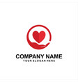 care heart logo vector image