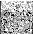 Cartoon cute doodles Travel frame design vector image vector image