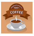 coffe banner vector image vector image