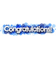 Congratulations banner with blue snowflakes vector image vector image
