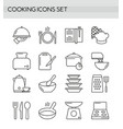 cooking accessories kitchen equipment utensil vector image vector image